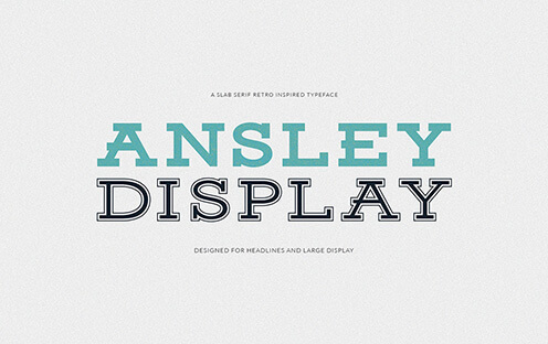 Ansley Display Best Free Font