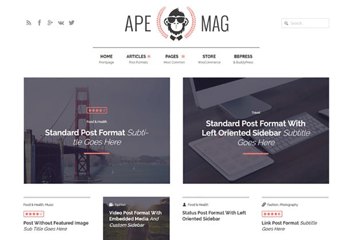 Apeomag WordPress Theme