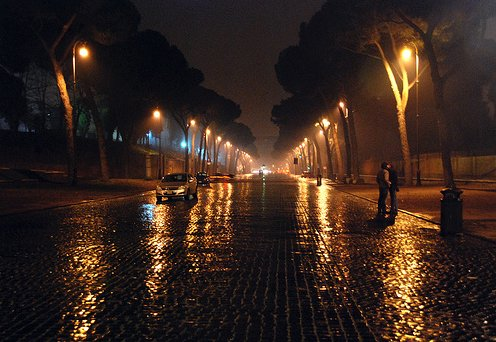 Beautiful Night In Rome Example of Rain