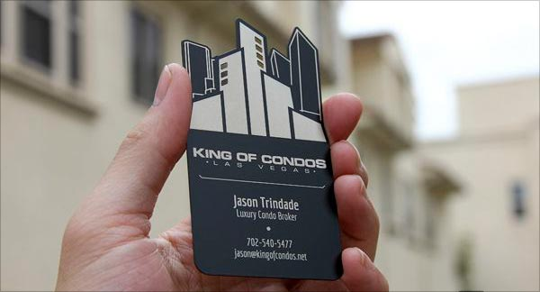 Black Cut Business Card
