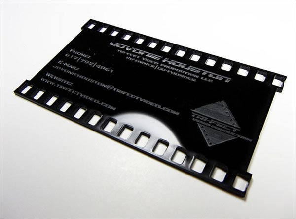 Black Die Cut Business Card