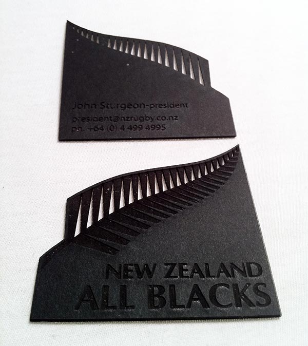 Black Laser cut business Custom Die Cut