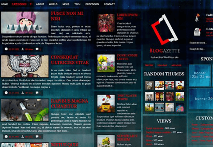 Blogazette Review WordPress