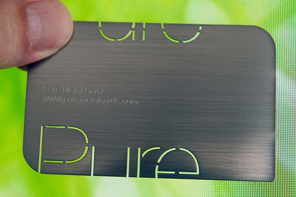 Brushed Stainless Steel Business Card