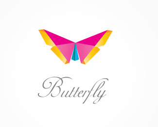 Butterfly Origami Inspired Logo Design