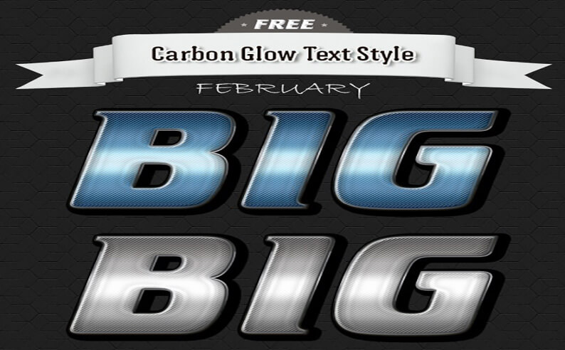 Carbon Free Photoshop Text Styles