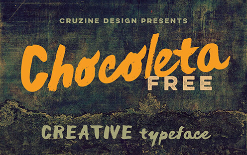 Chocoleta Best Free Font for Hipsters 2017