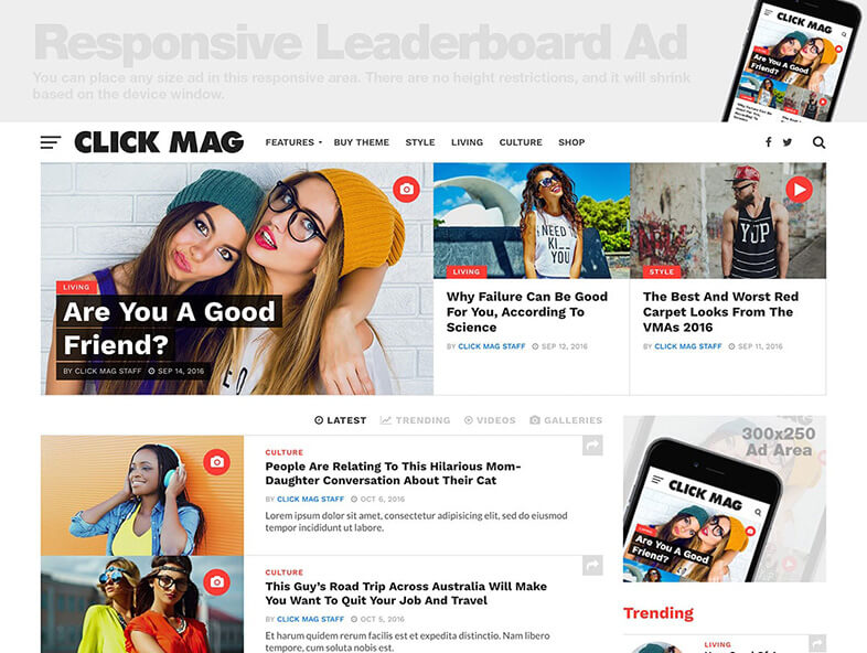 Click Mag WordPress Magazine Theme