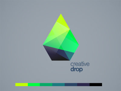 Creative Drop Origami Inspired Logo