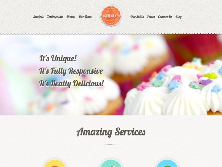 CuteCake Cake Shop Bakeries & Coffee Shop WordPress Theme