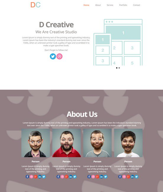 DCreative HTML5 Template