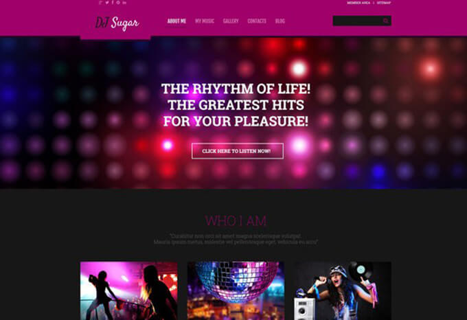 DJ Sugar WordPress Theme