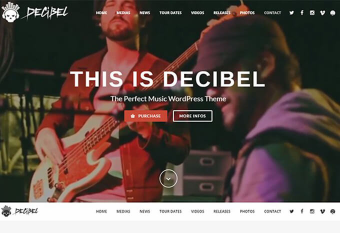 Decibel Best Music WordPress Theme