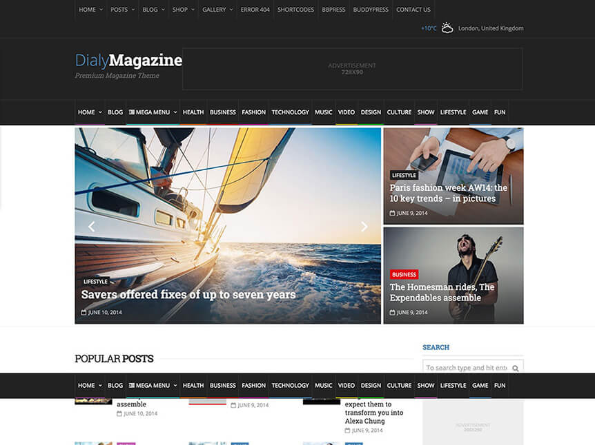 DialyMagazine Best Review WordPress Theme for Product Review Website