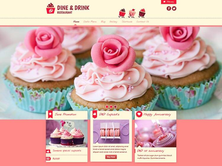 Dine Coffee Shop WordPress Theme 2017