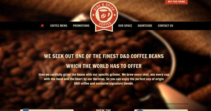 Dine Drink Restaurant Coffee Shop WordPress Theme 2017