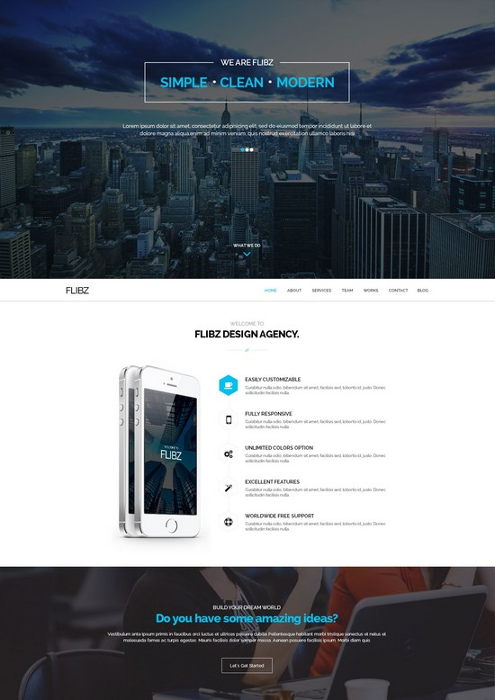 Flibz HTML5 Template
