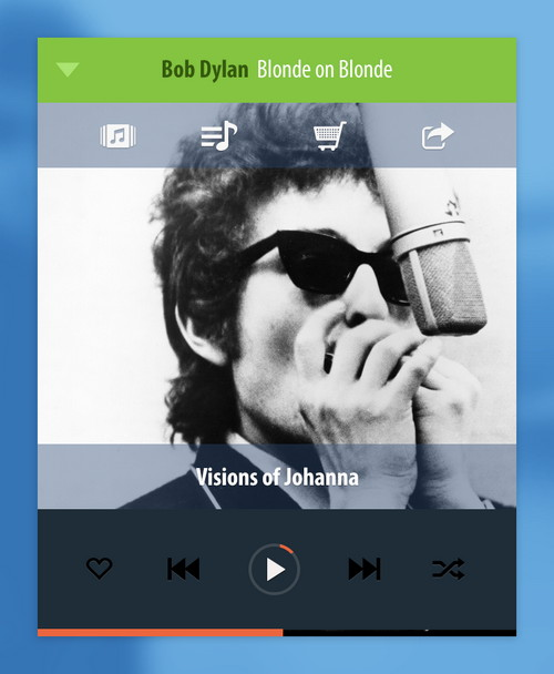 Free Psd Mobile Music Player PSD Template