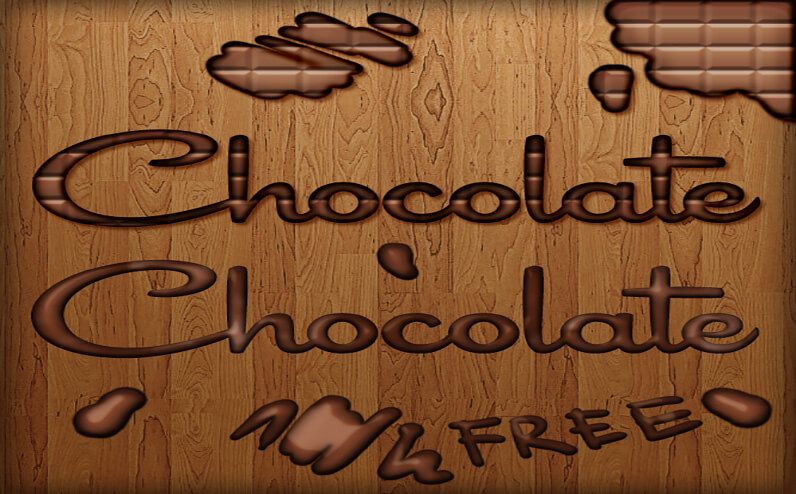 Free chocolate Free Photoshop