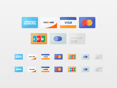 Freebie Credit Cards Debit Card and Payment Method Icon Set