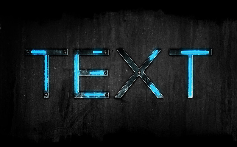 Futuristic Free Photoshop Text Styles