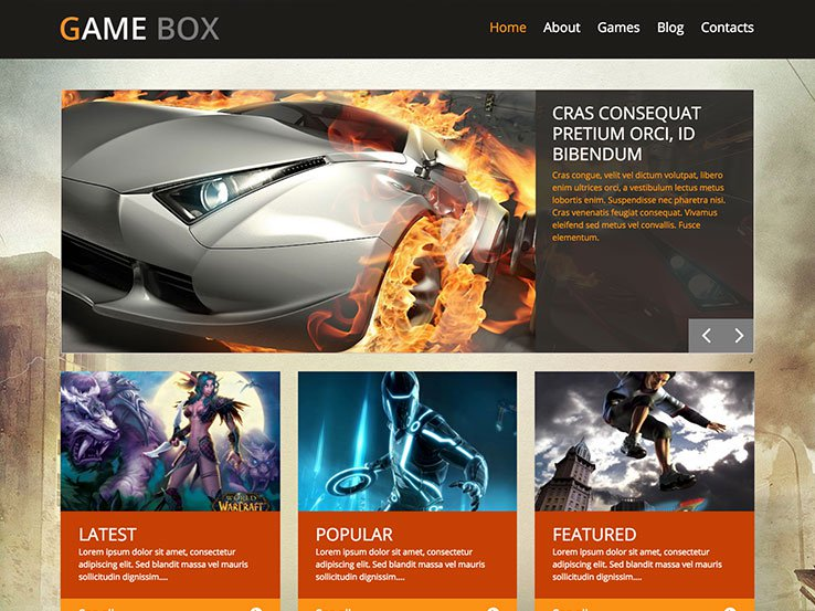 GameBox Gaming WordPress Theme