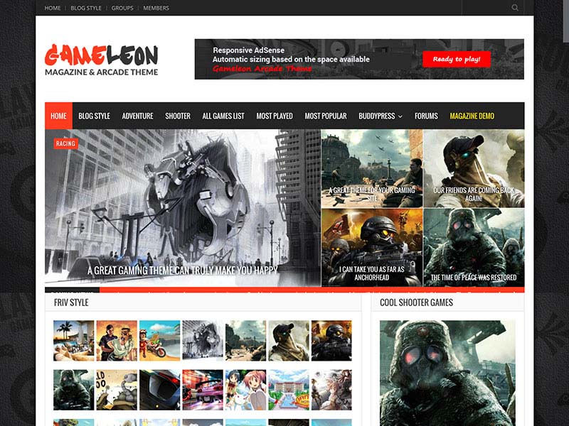 Gameleon Responsive Theme