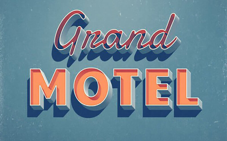 Grand Motel Text Styles