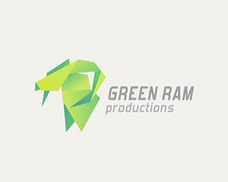 Green Ram Unique Origami