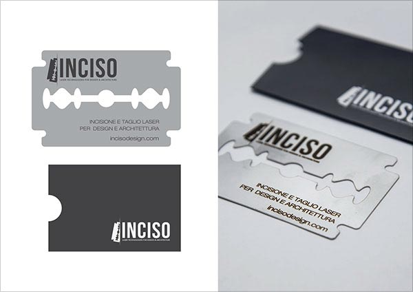 INCISODESIGN Die Cut Business Card