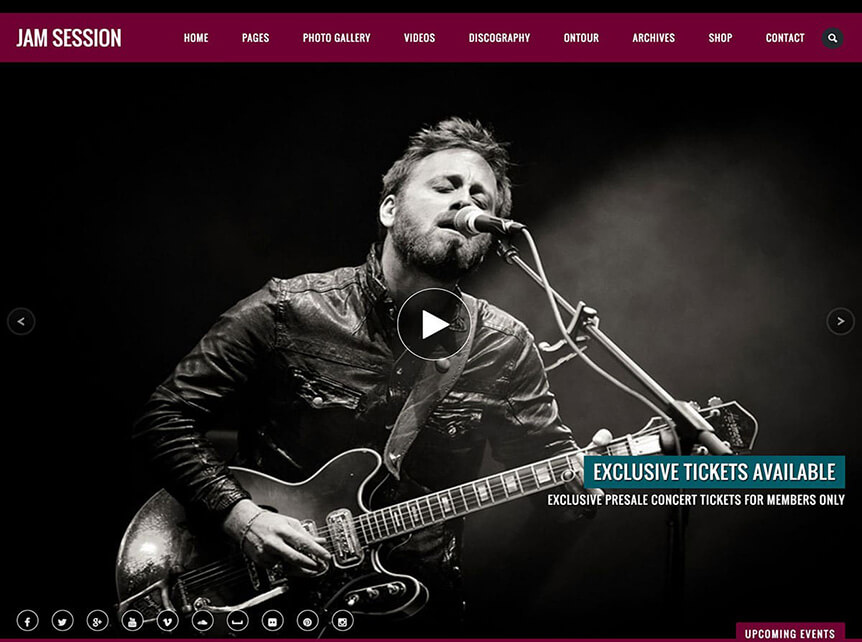 JamSession Music WordPress Theme