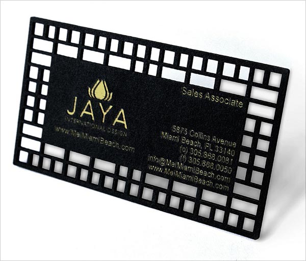 Laser Die Cut Business Card