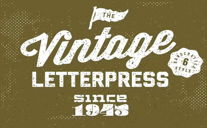 Letterpress Free Photoshop Text