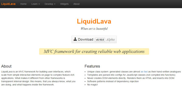 LiquidLava For Web Developers