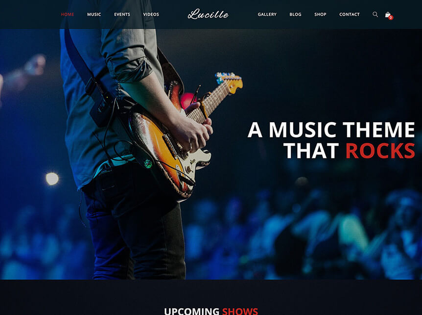 Lucille Music WordPress Theme
