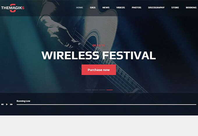 Magik Best Music WordPress Theme
