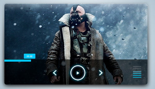 Media Player Large PSD Template