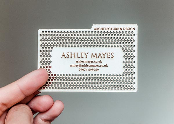 Metal Die Cut Business Card