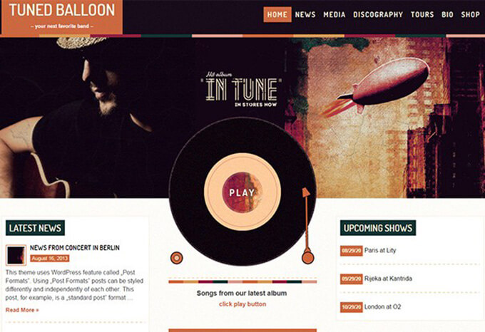 Mojo Music WordPress Theme for Musicians & Bands