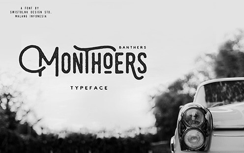 Monthoers Free Hipster Font