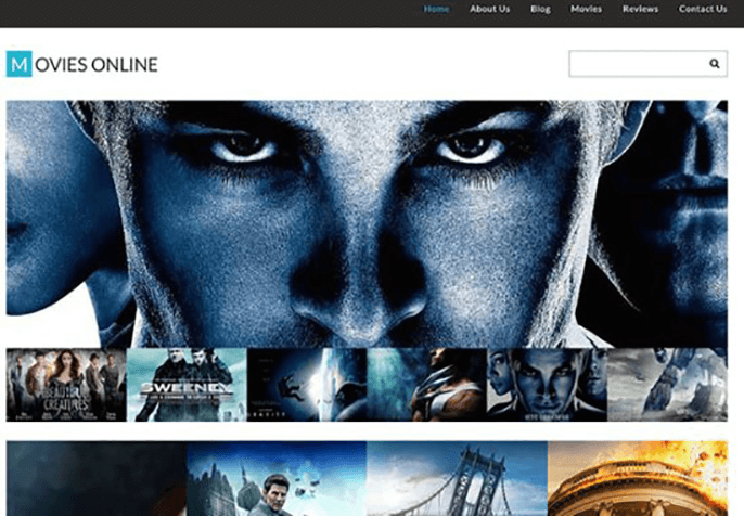 Movie Responsive Theme for Product Review Website