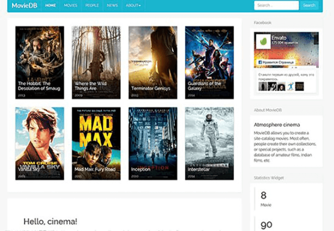 MovieDB Theme for Product Review Website