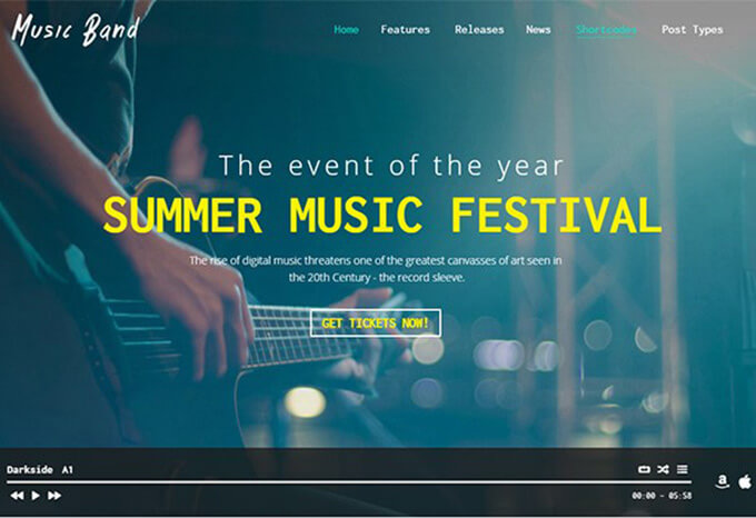 Music Band Best Music WordPress Theme