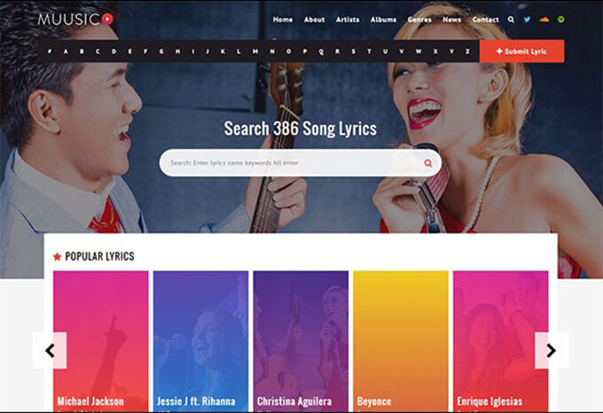 Music Best Music WordPress Theme