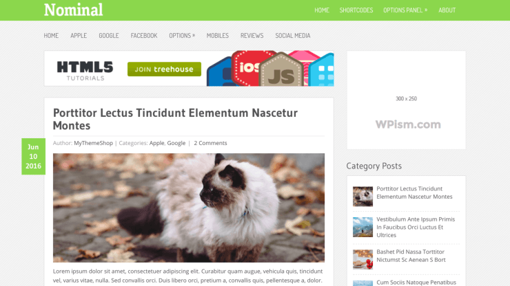 Nominal Friendly WordPress Theme