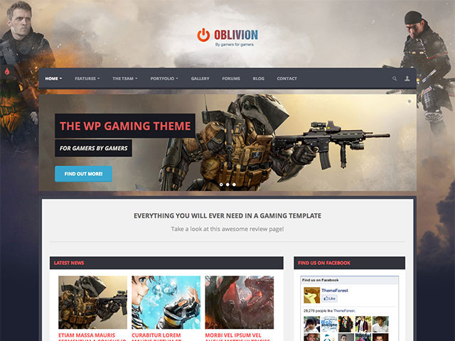 Oblivion Gaming WordPress