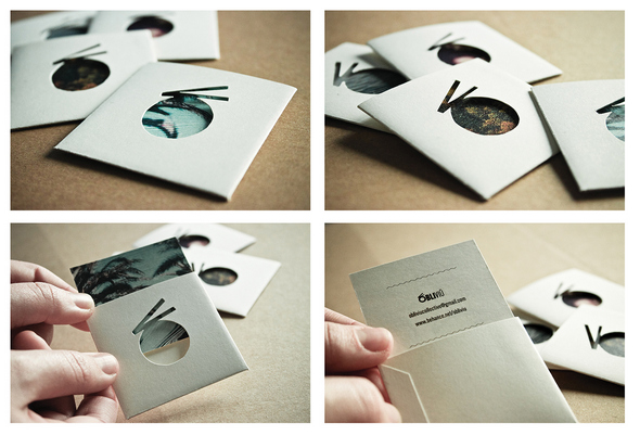 Obliviu Custom Die Cut Business Card Design