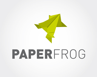 Paper Frog Origami Inspired Logo