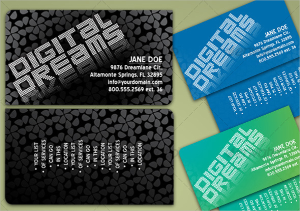 Patterned Business Card Design & Idea for Inspiration