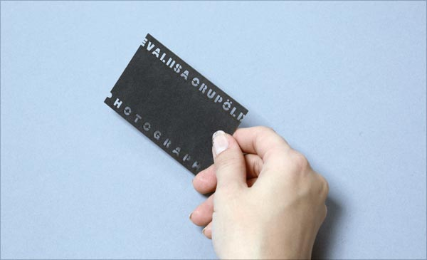 Photographer Cut Business Card